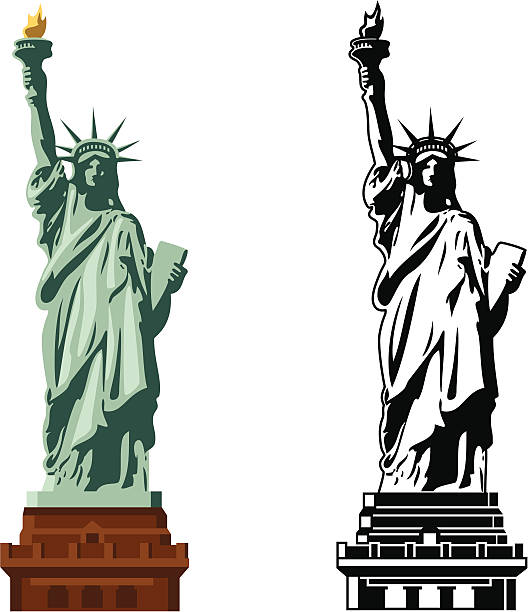 Statue Of Liberty Illustrations, Royalty-Free Vector