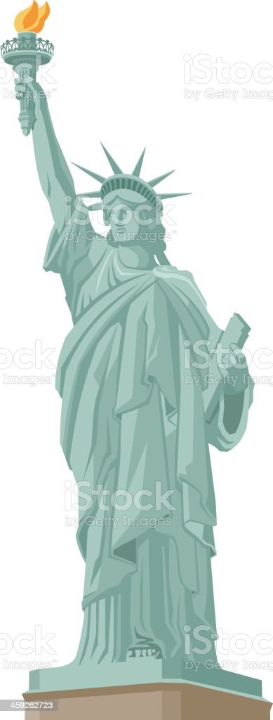 Statue of Liberty in New York vector art illustration