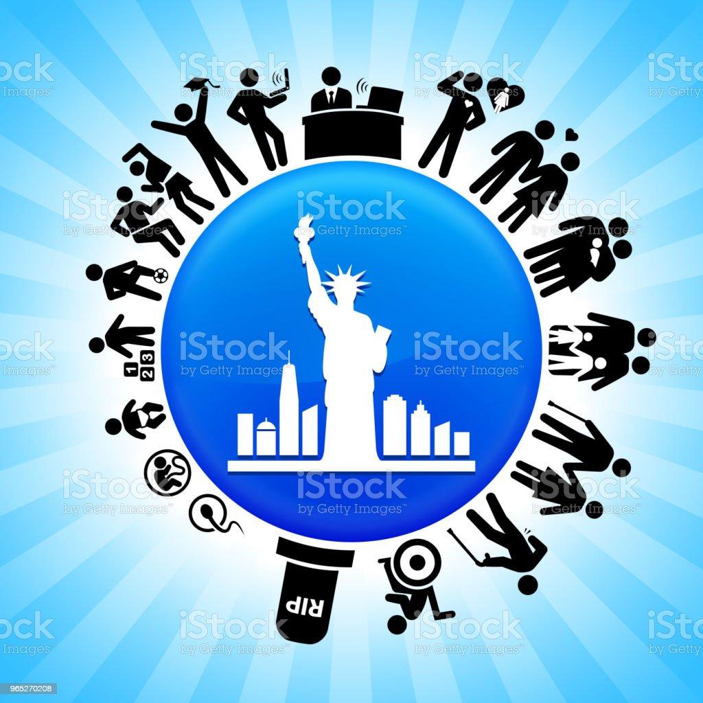 Statue of Liberty  Lifecycle Stages of Life Background statue of liberty lifecycle stages of life background - stockowe grafiki wektorowe i więcej obrazów adolescencja royalty-free