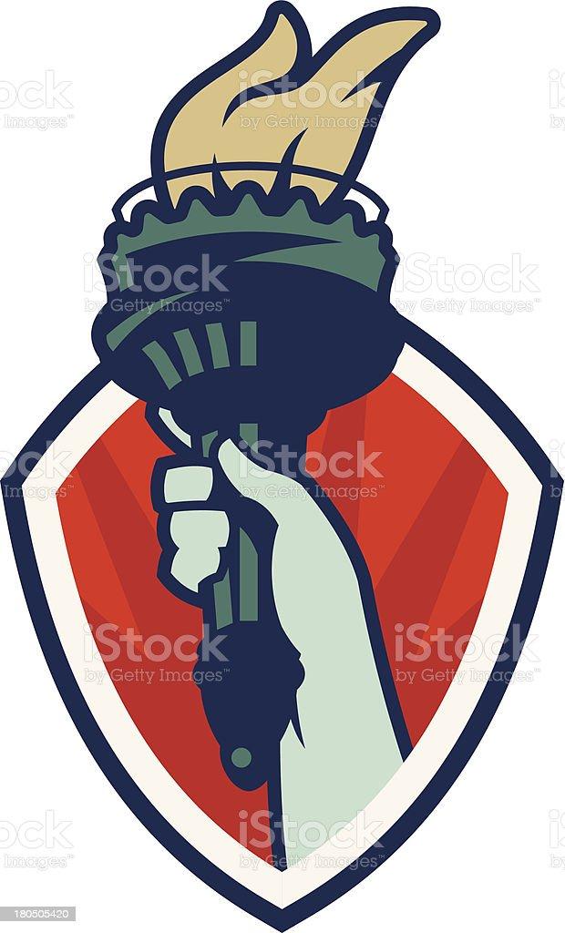 Statue Of Liberty Logo vector art illustration