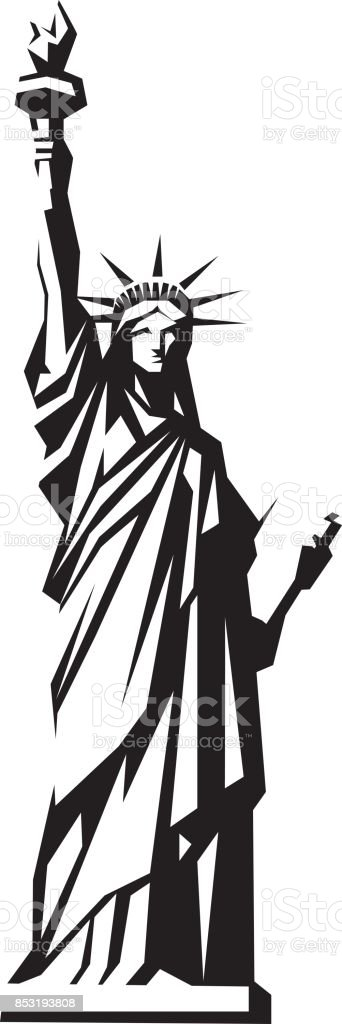 royalty free statue of liberty clip art vector images rh istockphoto com clipart statue of liberty silhouette statue of liberty clipart black and white