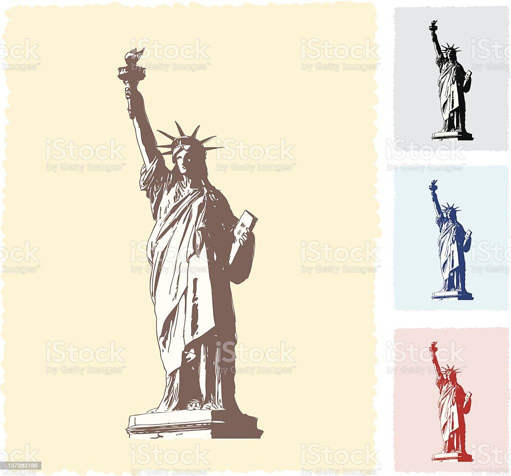 Statue of Liberty Sketch vector art illustration