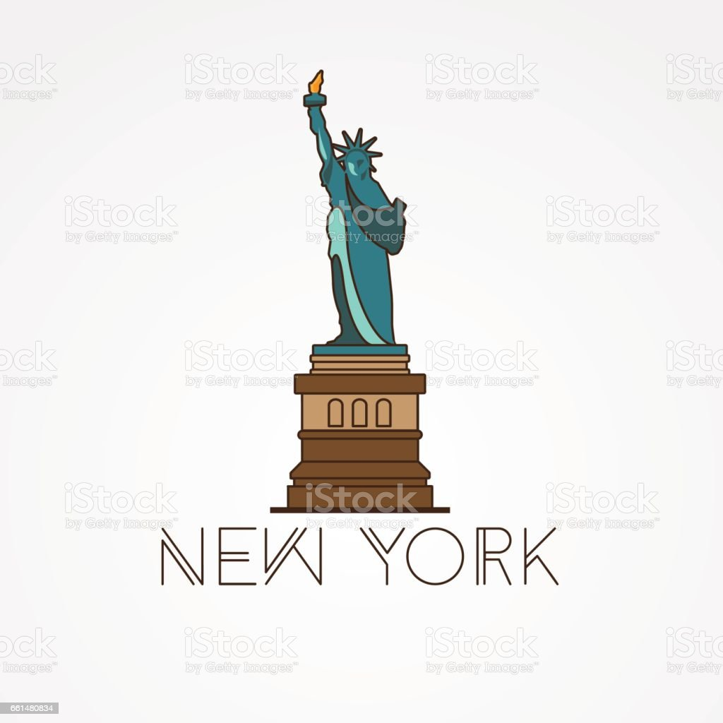 Statue Of Liberty The Symbol Of Us New York Stock Vector Art More