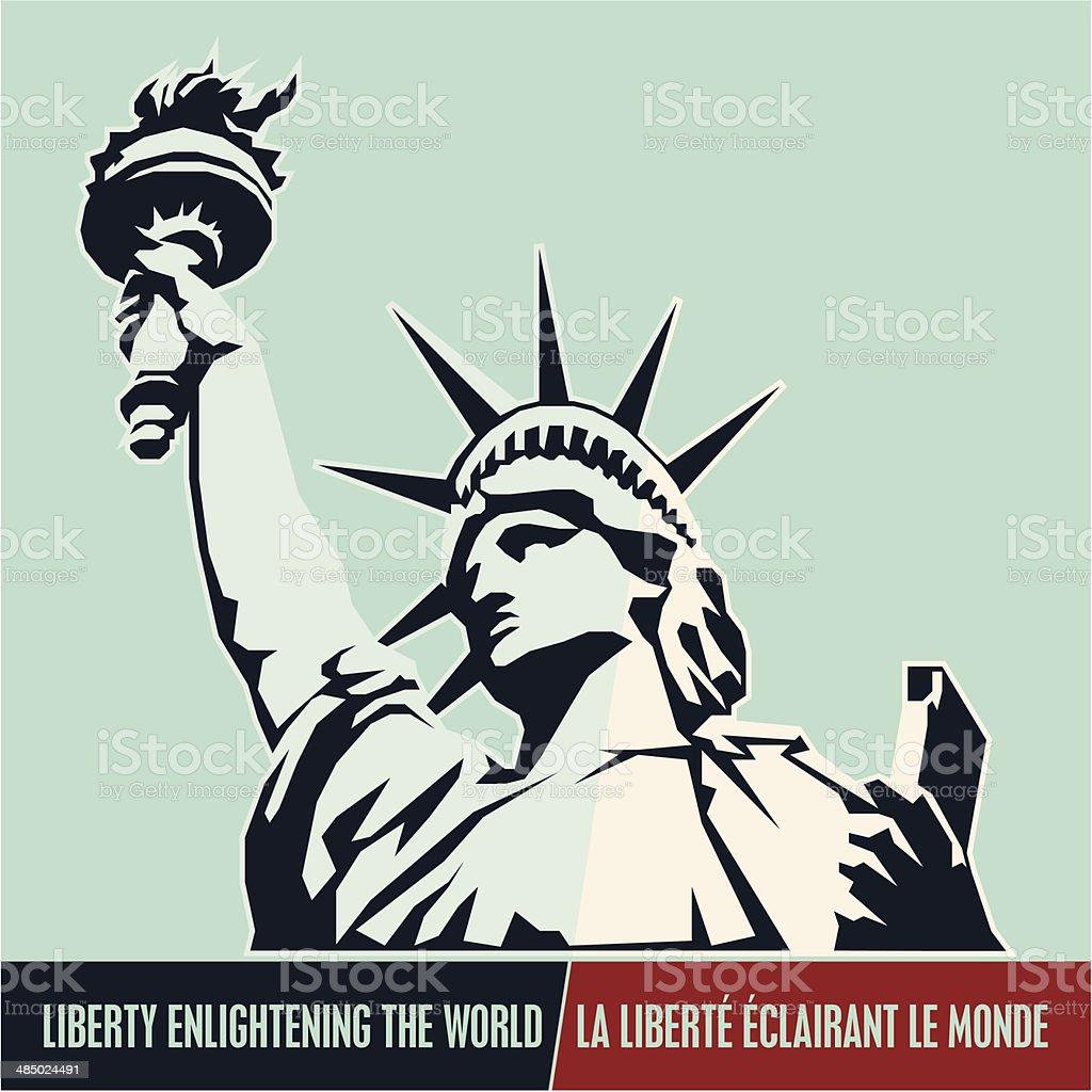 Statue of Liberty. USA vector art illustration