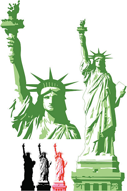 Statue of Liberty ( Vector ) Statue of Libery. svg stock illustrations