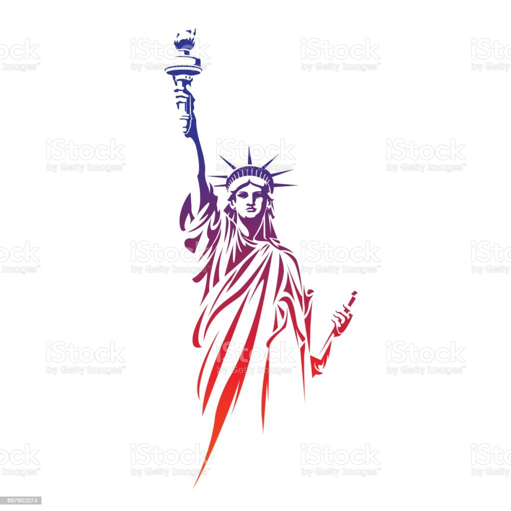 自由女神像 - 免版稅名勝古蹟圖庫向量圖形