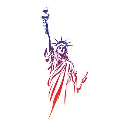 自由女神像向量圖形及更多名勝古蹟圖片