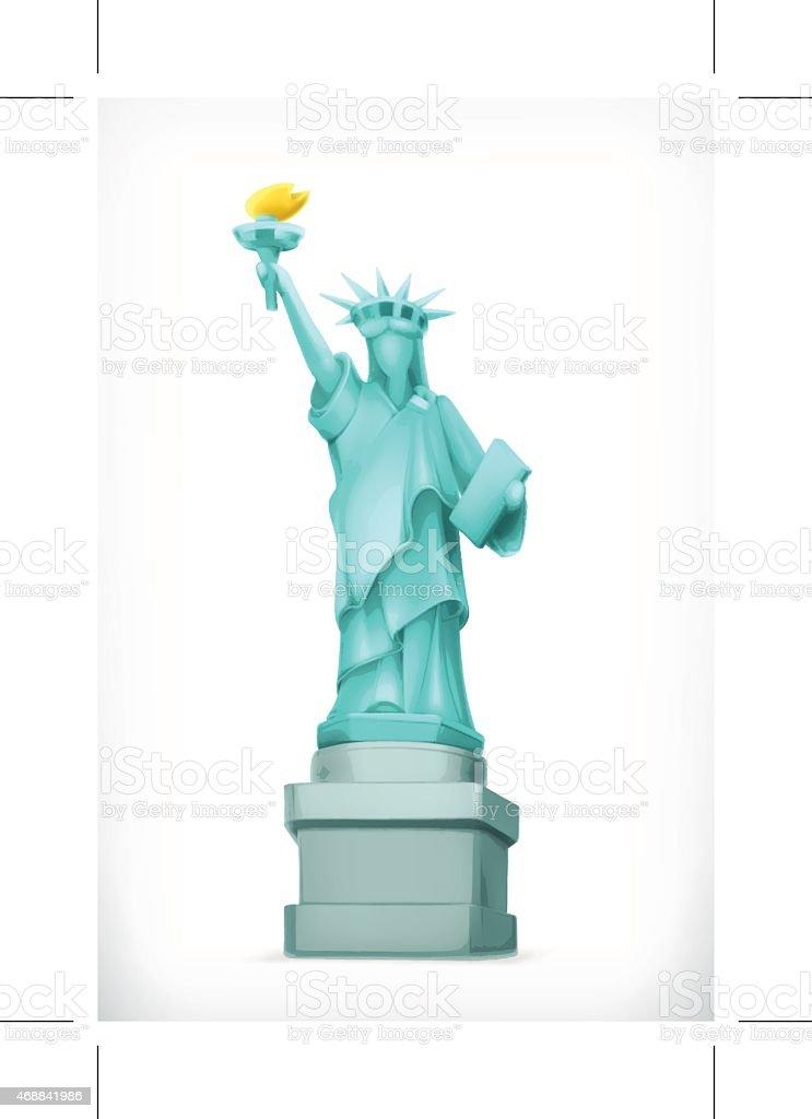 Statue of Liberty, vector illustration vector art illustration