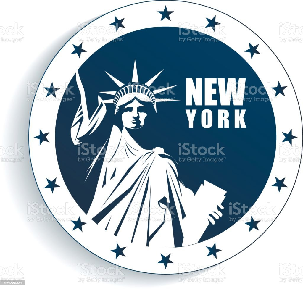 USA Statue of Liberty. Vector illustration. vector art illustration