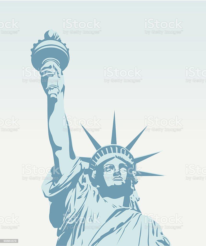 Statue of Liberty - Vector vector art illustration
