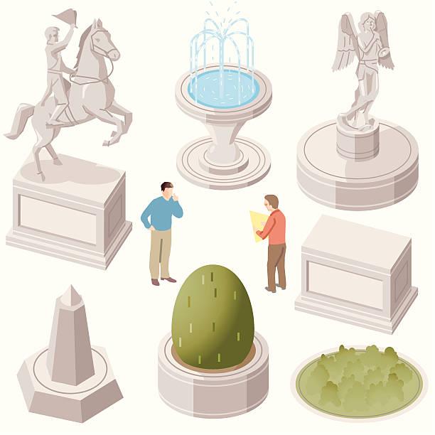 Statues vector art illustration