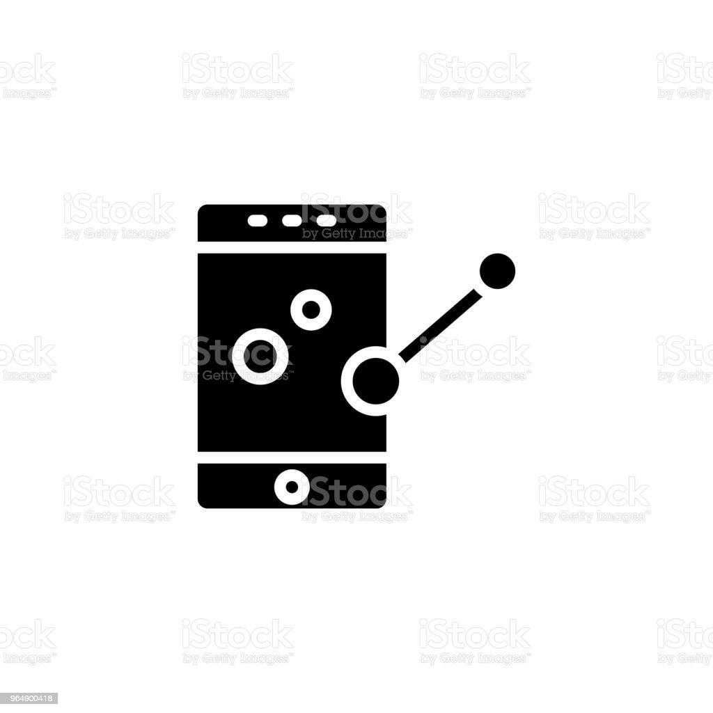 Status messages black icon concept. Status messages flat  vector symbol, sign, illustration. royalty-free status messages black icon concept status messages flat vector symbol sign illustration stock illustration - download image now
