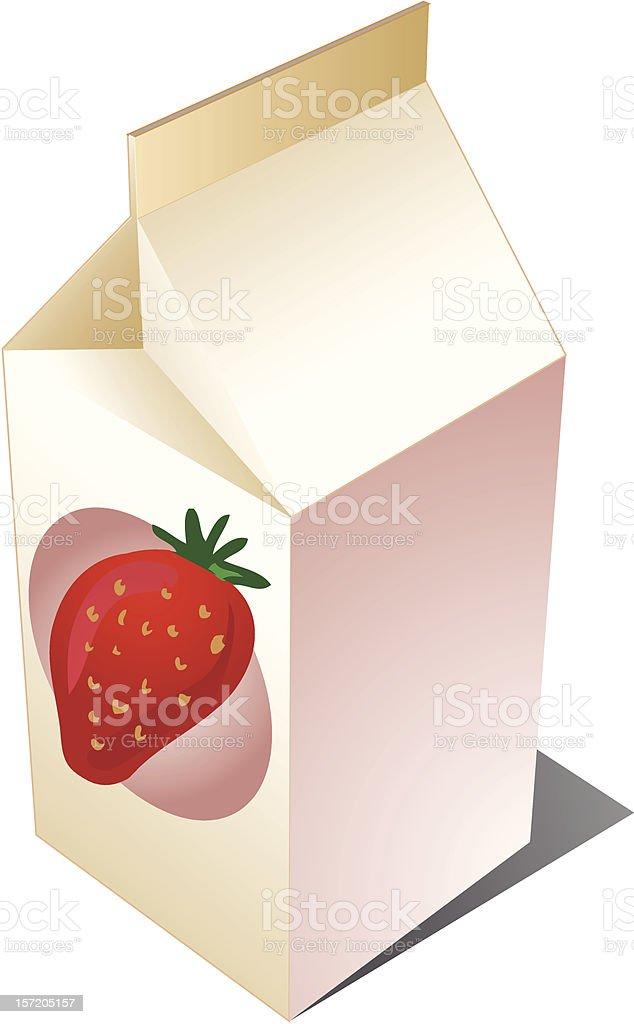 Stawberry milk royalty-free stock vector art