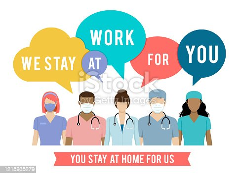 istock Stay At Home. Coronavirus and Covid-19 1215935279