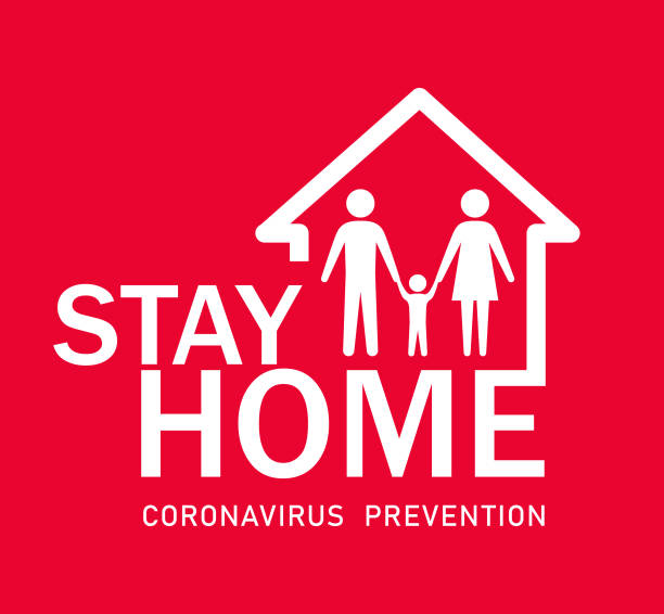 Stay at Home icon Stay at Home icon illness prevention stock illustrations