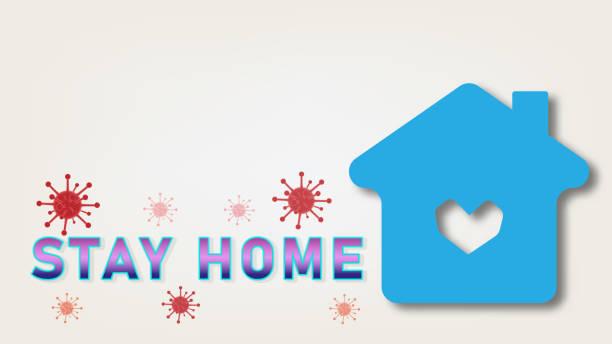 Bleiben Sie zu Hause, außer von Coronavirus Covid-19 und sozialer Entfernung – Vektorgrafik