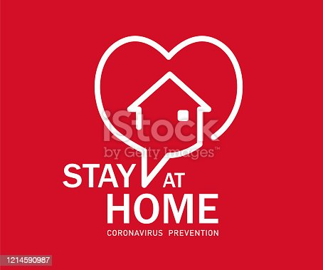 istock Stay at Home Symbol 1214590987
