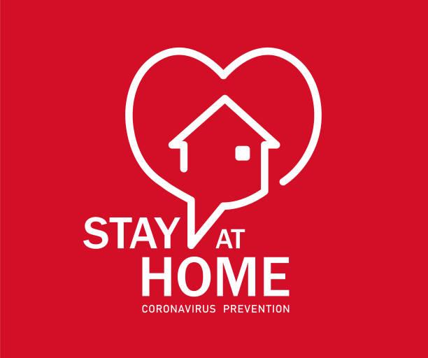 ilustraciones, imágenes clip art, dibujos animados e iconos de stock de stay at home symbol - stay home