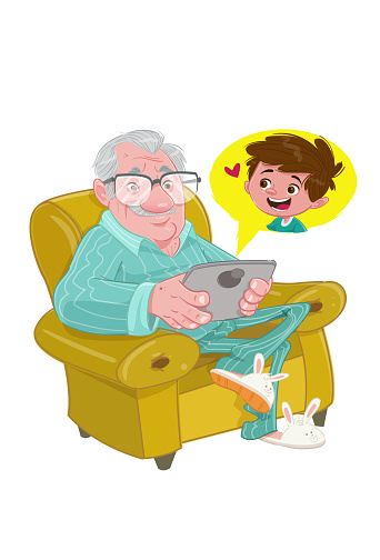 Stay at home (Elderly man)