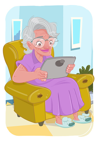 Stay at home (elderly woman)