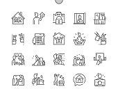 istock Stay at home Well-crafted Pixel Perfect Vector Thin Line Icons 30 2x Grid for Web Graphics and Apps. Simple Minimal Pictogram 1217462753