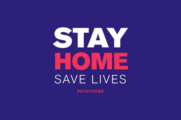 stay home save lives hashtag quarantine, coronavirus epidemic vector illustration vector art illustration