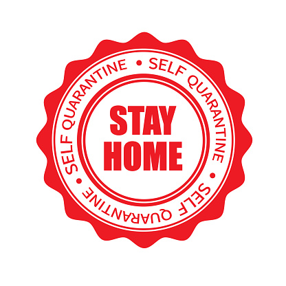 Stay Home Stamp