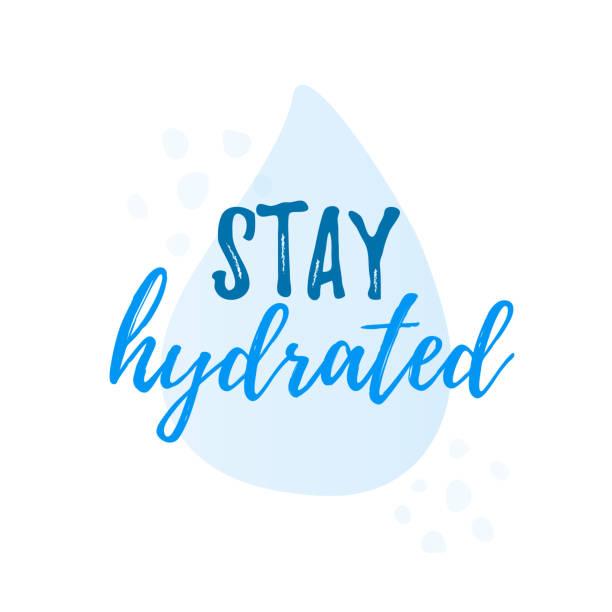 ilustrações de stock, clip art, desenhos animados e ícones de stay hydrated yourself quote calligraphy text. vector illustration text hydrate yourself. - refresco