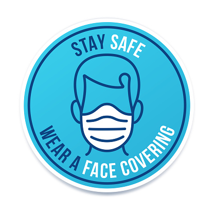 Stay Safe Wear a Face Covering Symbol Icon