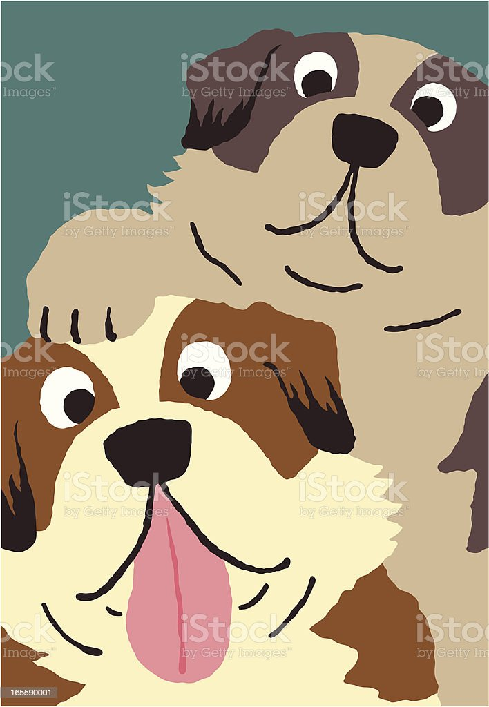 St.Bernard royalty-free stock vector art