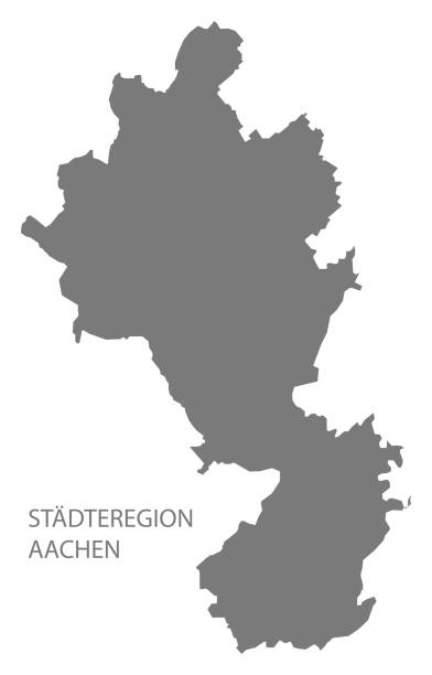 Städteregion Aachen grey county map of North Rhine-Westphalia DE Städteregion Aachen grey county map of North Rhine-Westphalia DE lachen stock illustrations