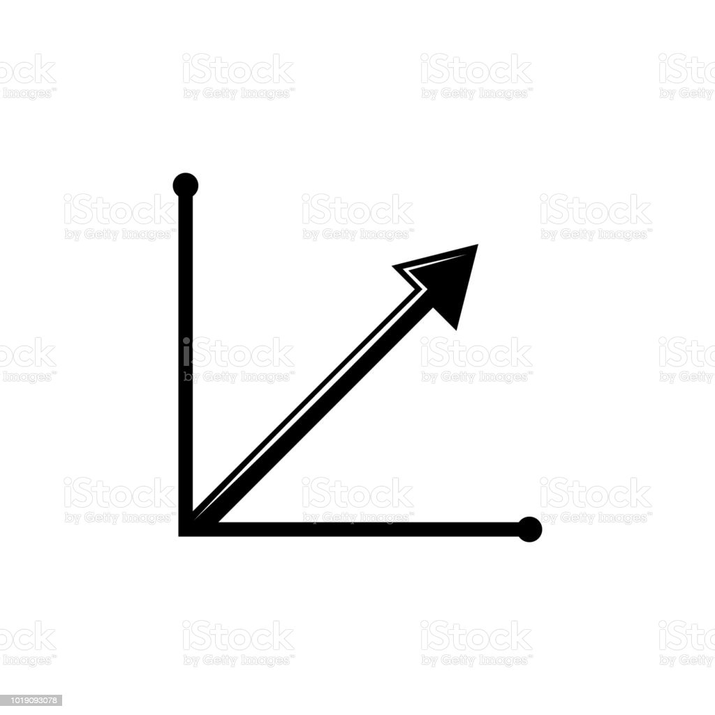 Steady Growth Arrow Chart Icon Trend Diagram Element Icon Business