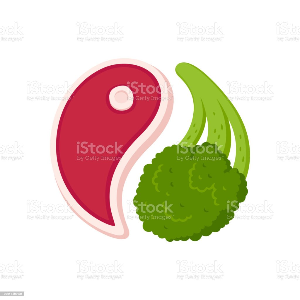 Steak and broccoli royalty-free steak and broccoli stock illustration - download image now