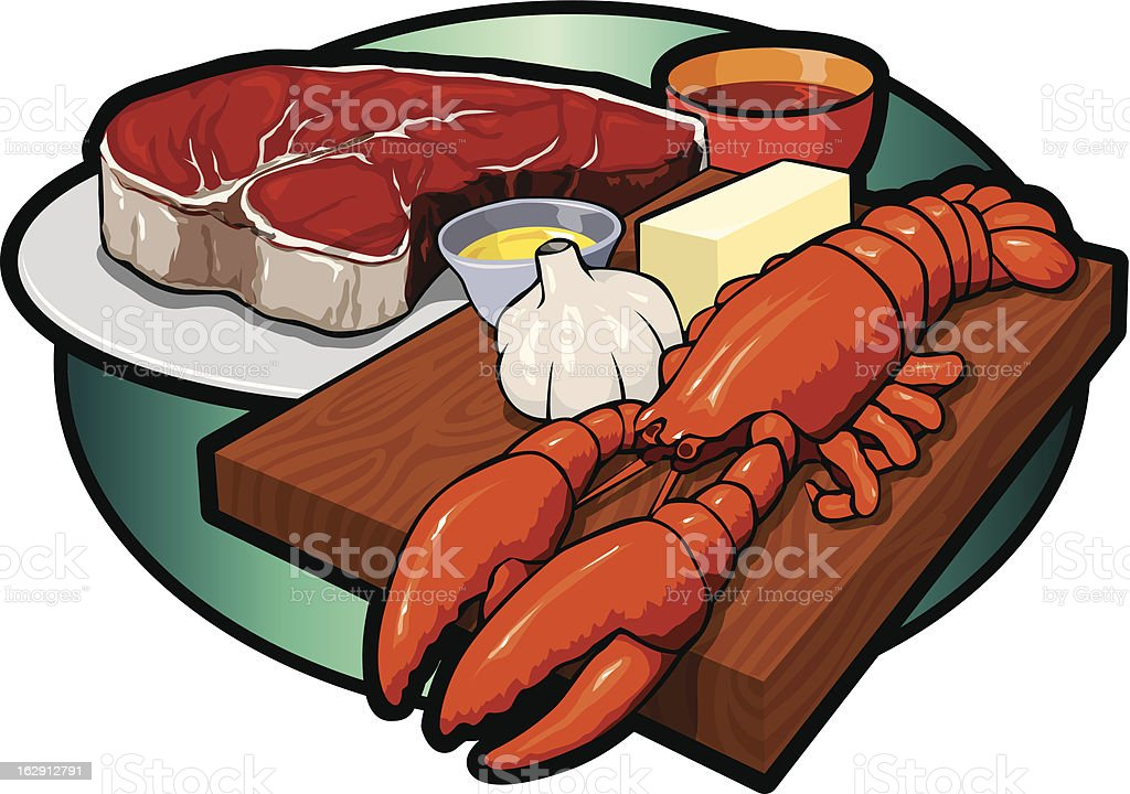 royalty free steak and lobster clip art vector images rh istockphoto com Cow Head Profile Clip Art Cow Head Profile Clip Art