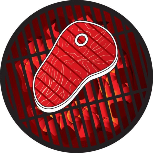 bildbanksillustrationer, clip art samt tecknat material och ikoner med steak grill - loin