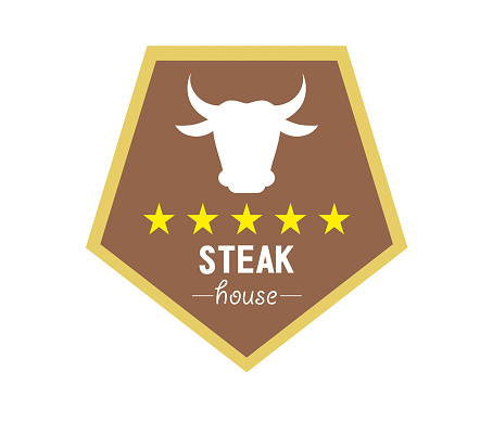 Steak House restaurant logo