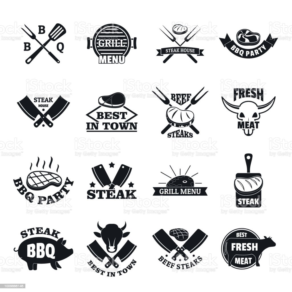 Grill, stil, silhuett, ikonen, enkel, illustration, vektor