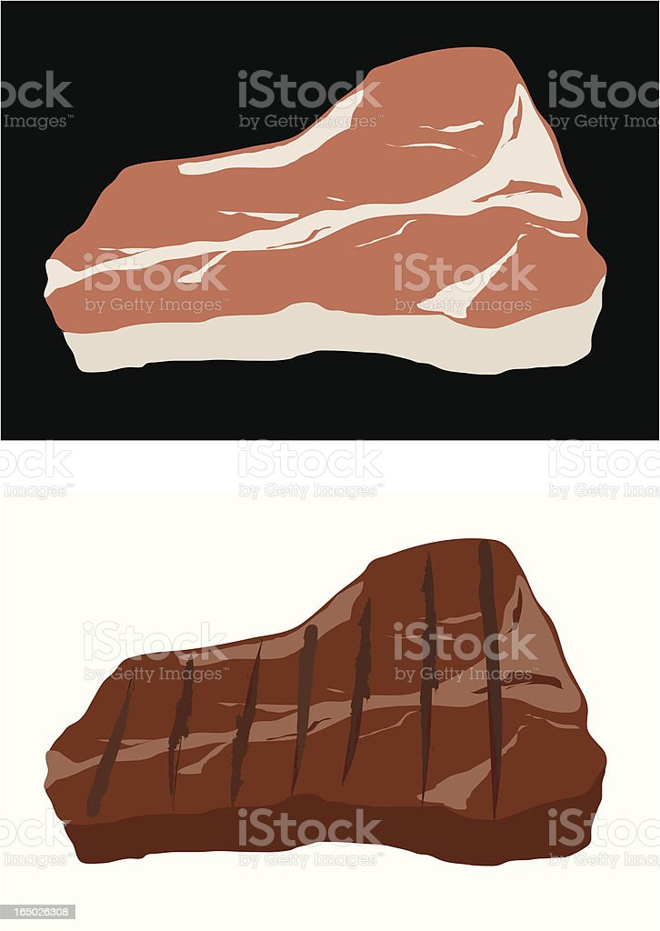 Steak royalty-free steak stock vector art & more images of barbecue