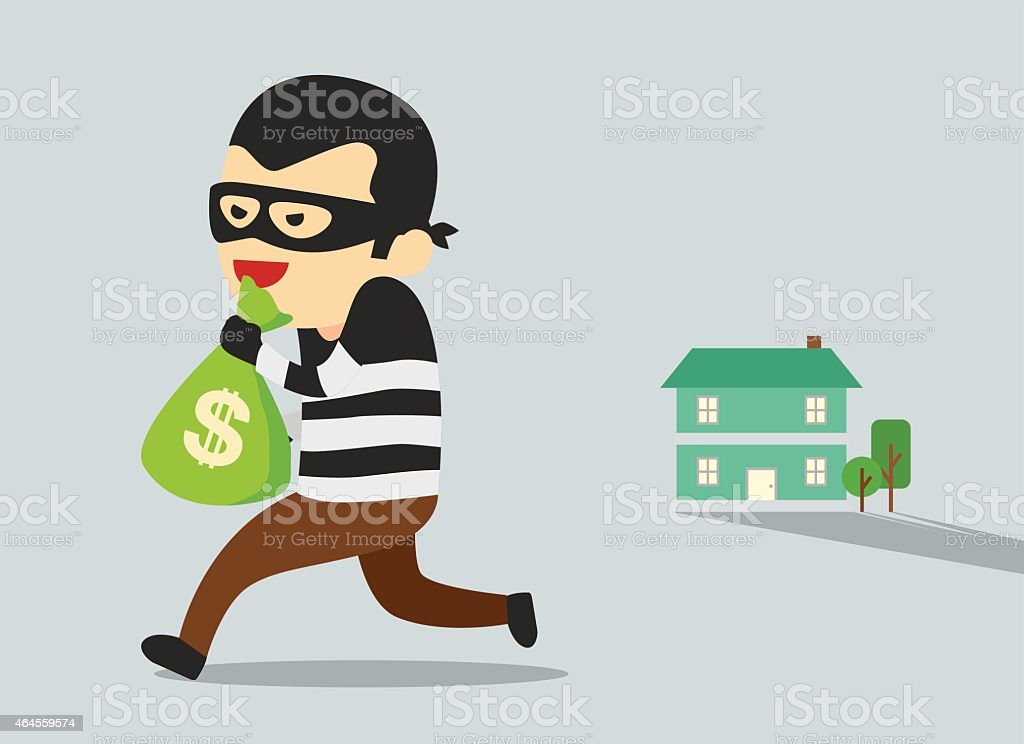 Stealing Money vector art illustration