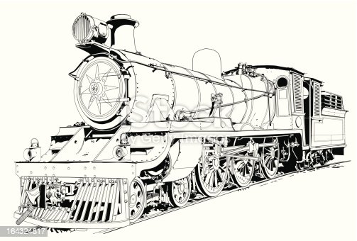 Steam Engine Powered Train Stock Vector Art & More Images