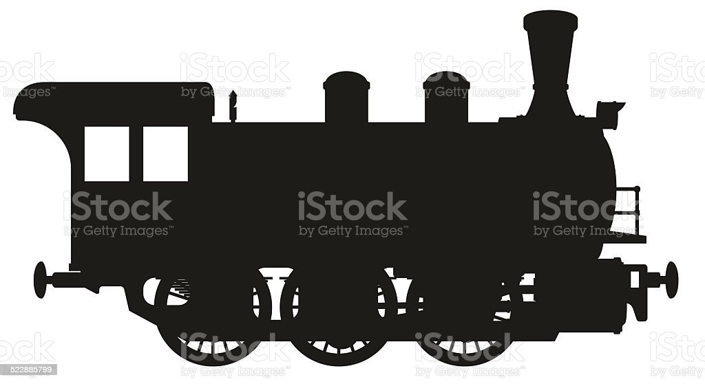 steam locomotive vector art illustration
