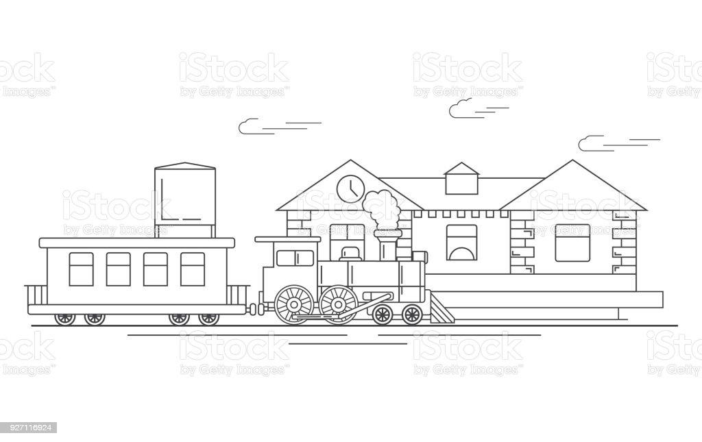 Steam Locomotive Vintage Vehiclethe Railway Station With Train