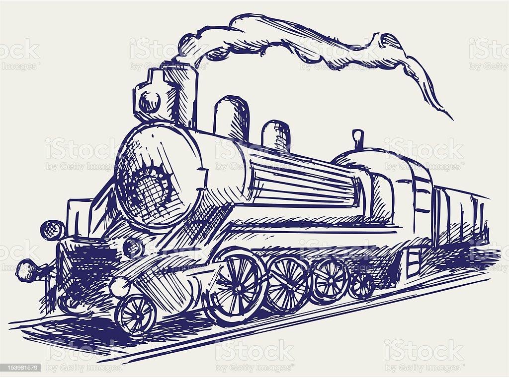 Ilustración de Tren De Vapor Y Humo y más banco de imágenes de ...