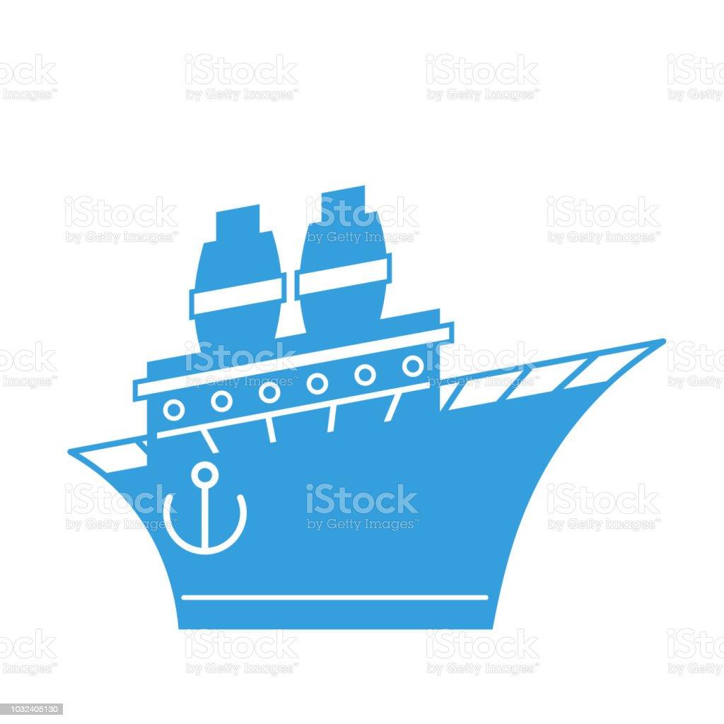 Style De Dessin Animé Steamboat Illustration Vectorielle De Navire