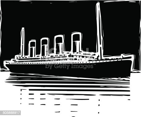 Illustration of a Steamboat.