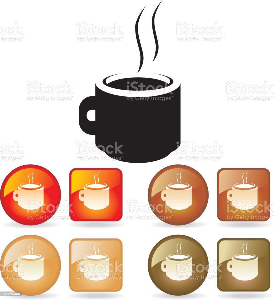 Steaming Coffee royalty-free steaming coffee stock vector art & more images of back lit