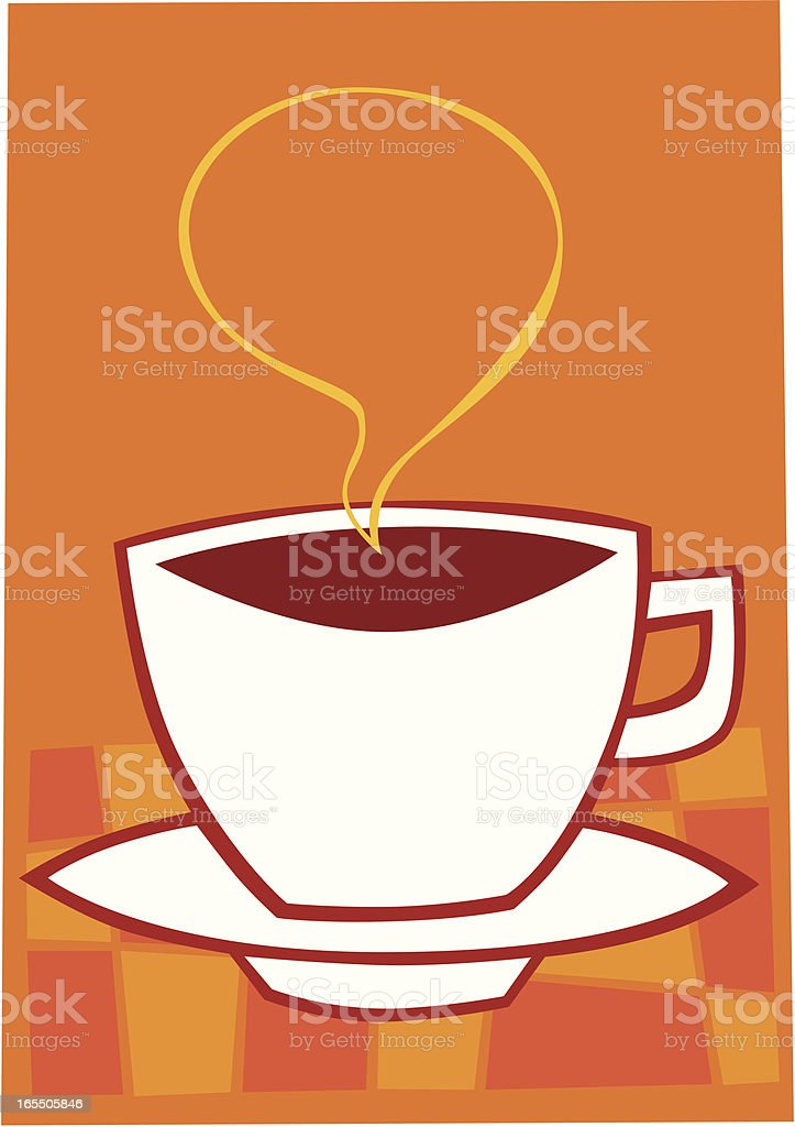 Steaming cup of coffee royalty-free stock vector art