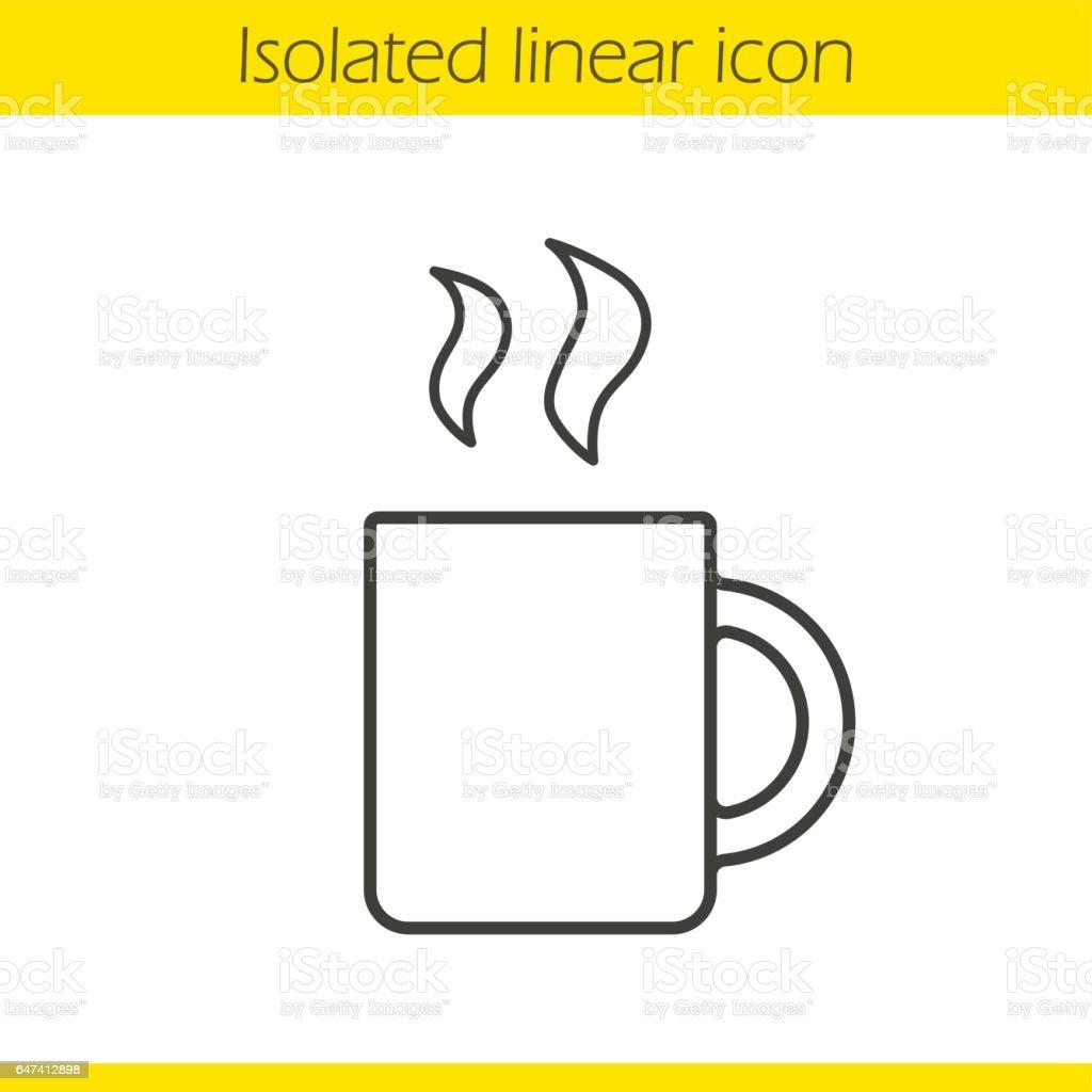 Dessin Tasse De Café Fumant icône de tasse fumante – cliparts vectoriels et plus d'images de art