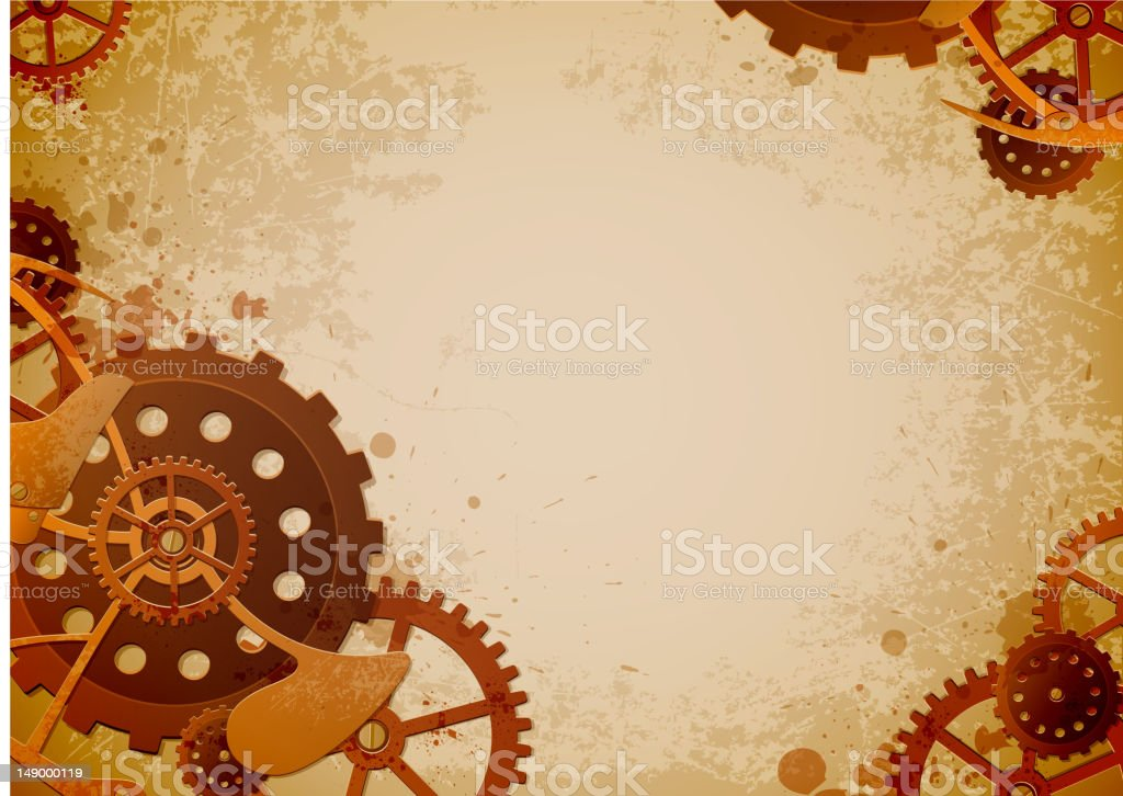 steampunk background stock vector art more images of backgrounds