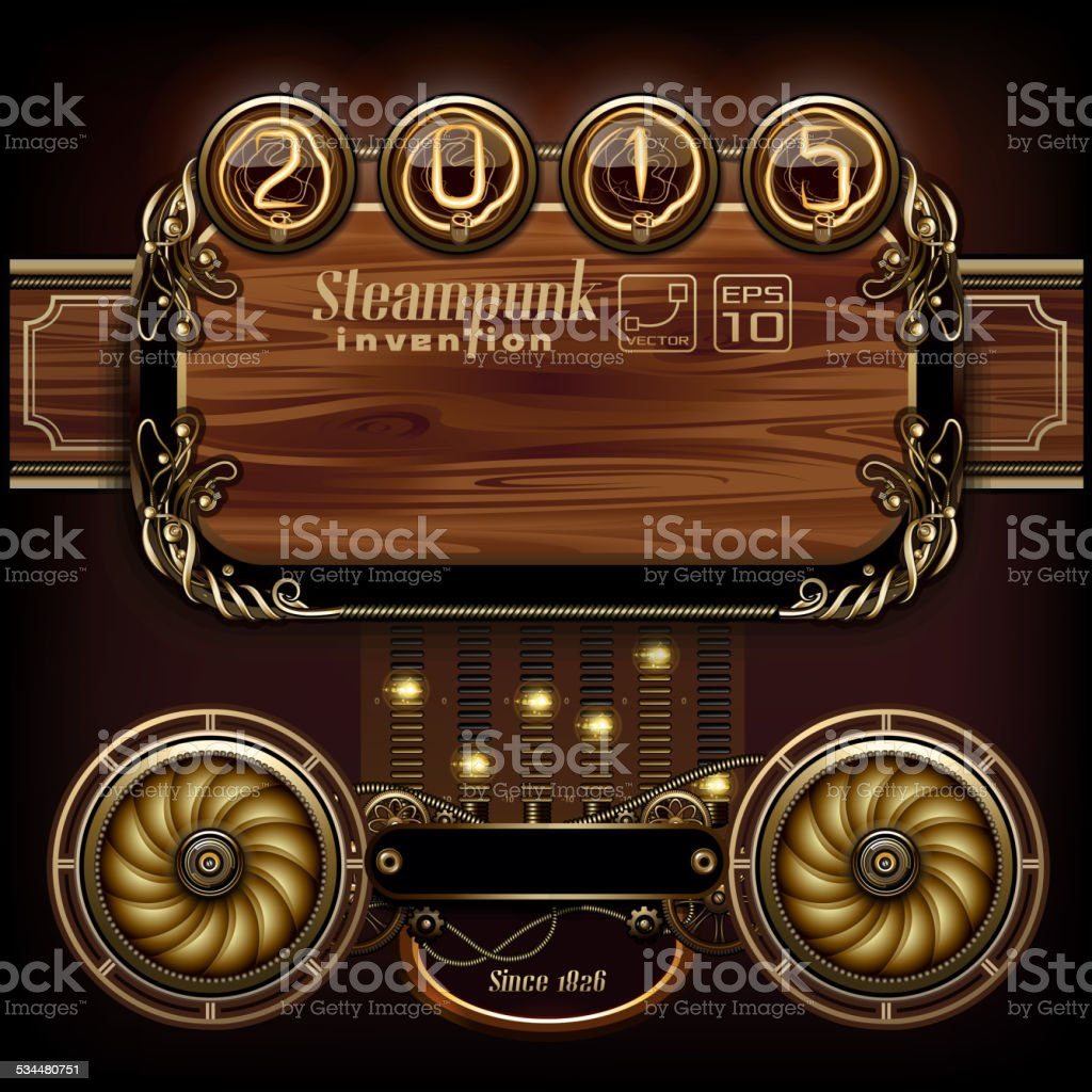 Steampunk concepts vector art illustration